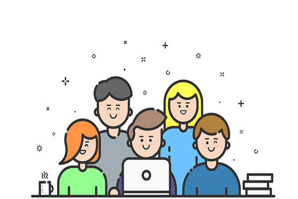 De groepschat functie laat je met 50 klanten tegelijk communiceren