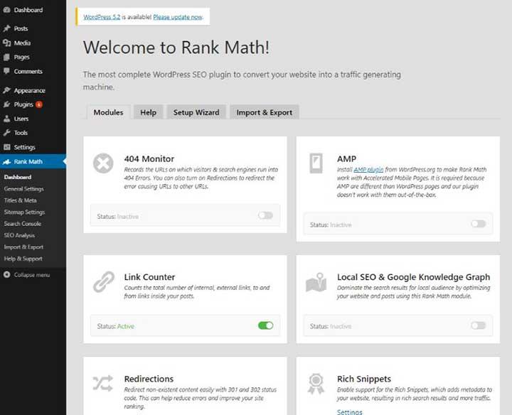 RankMath-Dashboard
